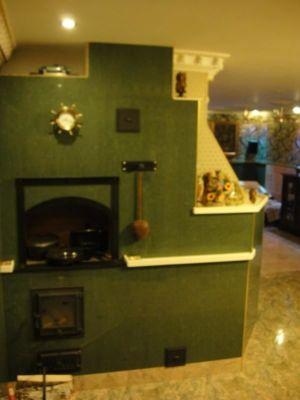 8.печь  камин на кухне